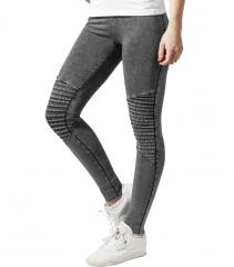 Urban Classics Womens Denim Jersey Leggings Dark Grey