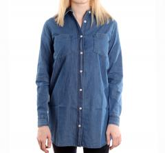 Makia Womens Archipelago Shirt Washed Blue