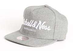 Mitchell & Ness Pin Script Snapback Grey Heather
