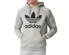 Adidas Originals Trefoil Hoodie Medium Grey Heather