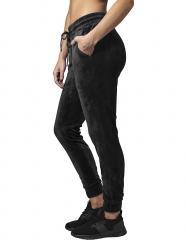 Urban Classics Womens Velvet Pants Black