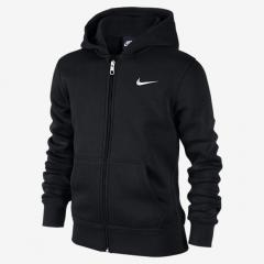 Nike Youth Fleece Zip Hoodie Black / White