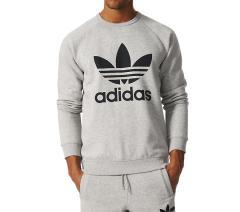 Adidas Originals Trefoil Sweatshirt Medium Grey Heather / Black