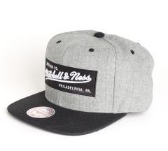 Mitchell & Ness Box Logo Snapback Grey Heather / Black