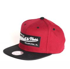 Mitchell & Ness Box Logo Snapback Burgundy / Black