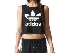 Adidas Womens Loose Crop Tank Black