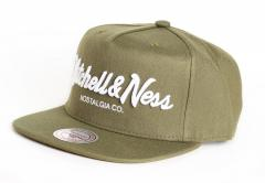 Mitchell & Ness Pin Script Snapback Olive