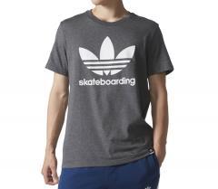 Adidas Clima 3.0 Tee Dark Grey Heather / White