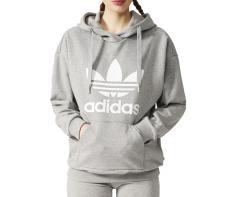 Adidas Womens Trefoil Hoodie Medium Grey Heather