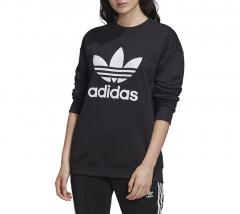 Adidas Originals Womens Trefoil Crew Sweatshirt Black