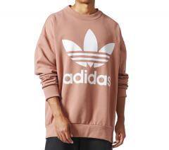 Adidas Originals Oversized Crewneck Sweatshirt Raw Pink
