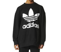 Adidas Originals Oversized Crewneck Sweatshirt Black