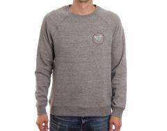 Brixton Wheeler Crew Heather Grey / Brick