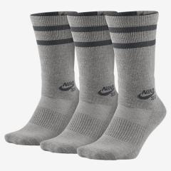 Nike SB Dry Crew Sock 3-Pack Dark Grey Heather / Dark Grey
