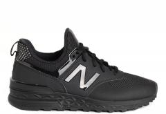 New Balance Womens 574 Sport Black / Black