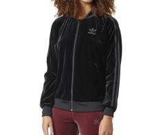 Adidas Womens Velvet Superstar Track Top Black