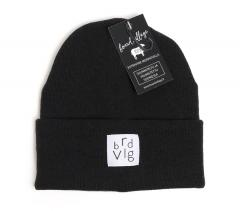 Boardvillage Merino Patch Beanie Black