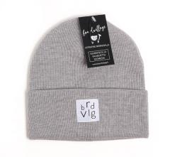 Boardvillage Merino Patch Beanie Grey