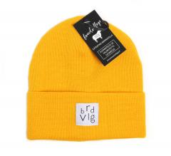 Boardvillage Merino Patch Beanie Yellow