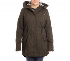 Urban Classics Womens Sherpa Lined Cotton Parka Olive