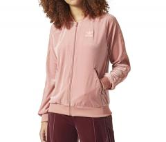 Adidas Womens Velvet Vibes Superstar Track jacket Raw Pink