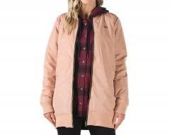 Vans Womens Boom Boom Long Reversible MTE Jacket Mahogany Rose
