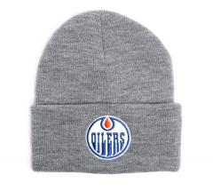 Mitchell & Ness Edmonton Oilers Beanie Grey