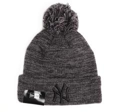 New Era Yankees Marl Bobble Cuff Knit Grey