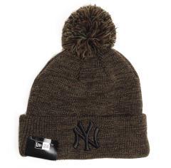 New Era Yankees Marl Bobble Cuff Knit Green