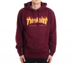 Thrasher Flame Logo Hoodie Maroon