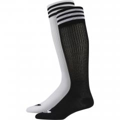 Adidas Solid Knee Sock 2-Pack Black / White
