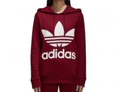Adidas Womens Trefoil Hoodie Collegiate Burgundy