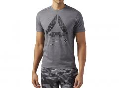 Reebok Speedwick Graphic Tee Dark Grey Heather