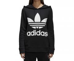Adidas Womens Trefoil Hoodie Black
