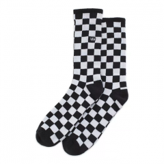 Vans Checkerboard II Crew Sock Black / White