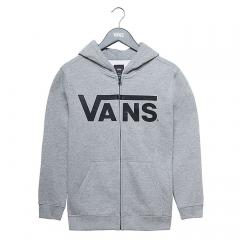 Vans Youth Classic Zip Hoodie Concrete Heather / Black