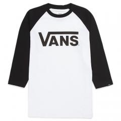 Vans Youth Classic Raglan Tee White / Black