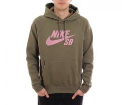 Nike SB Icon Hoodie Medium Olive / Elemental Pink