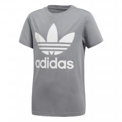 Adidas Junior Trefoil Tee Grey / White