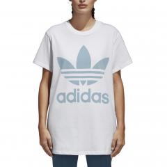 Adidas Womens Trefoil Oversize Tee White