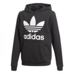 Adidas Junior Trefoil Hoodie Black / White