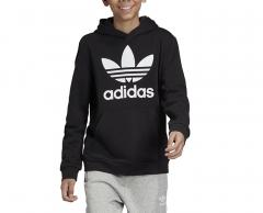 Adidas Youth Trefoil Hoodie Black / White