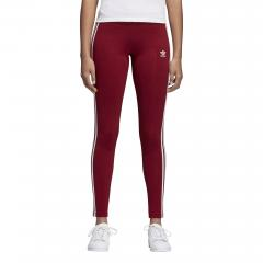 Adidas Womens 3 Stripes Leggings Collegiate Burgundy