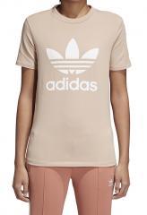 Adidas Womens Trefoil Tee Ash Pearl / White