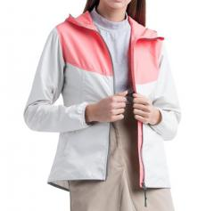 Herschel Womens Voyage Wind Jacket Silver Birch / Georgia Peach
