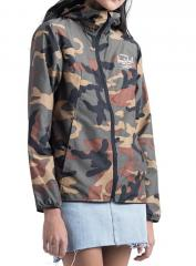 Herschel Womens Voyage Wind Jacket Woodland Camo / White