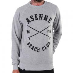 Asenne Beach Club Crewneck Grey / Black