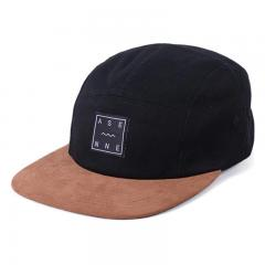 Asenne Wave 5-Panel Cap Black / Brown Faux Suede
