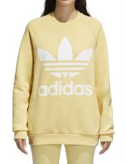 Adidas Womens Trefoil Oversize Sweatshirt Sand