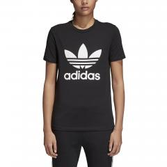 Adidas Womens Trefoil Tee Black / White